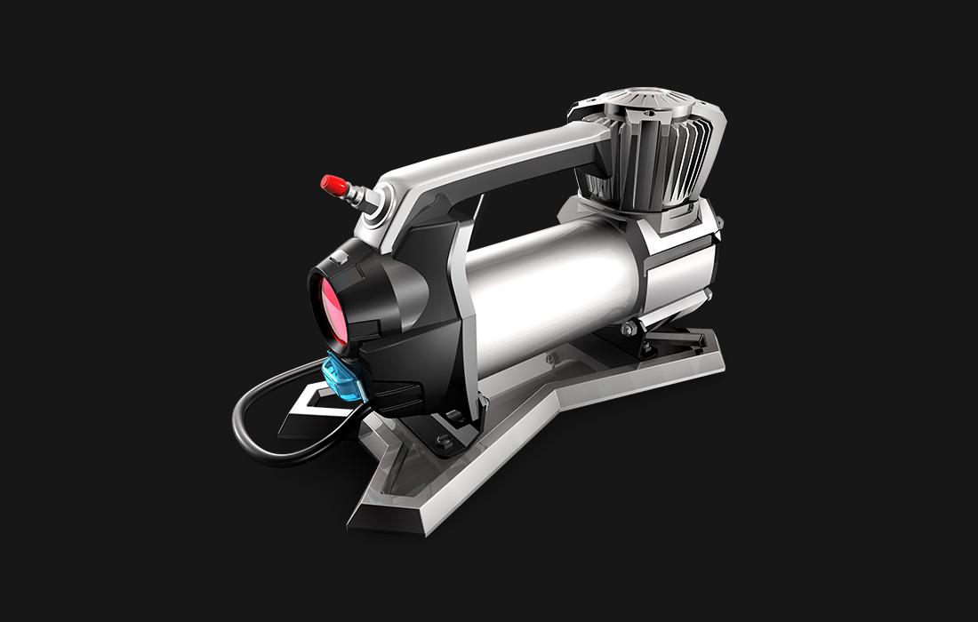 东莞产品设计公司案例欣赏-汽车打气泵设计1
